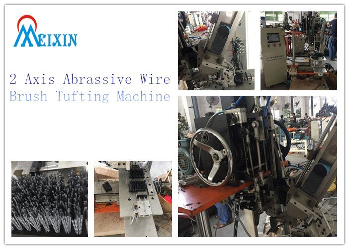 2 axis abrassive wire brush tufting machine