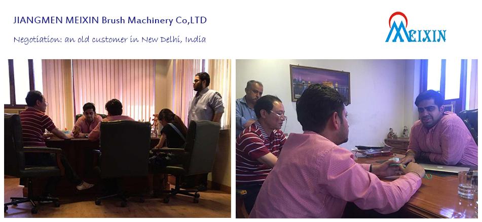 Business Negotiation: Brushes making machine customers in New Delhi India