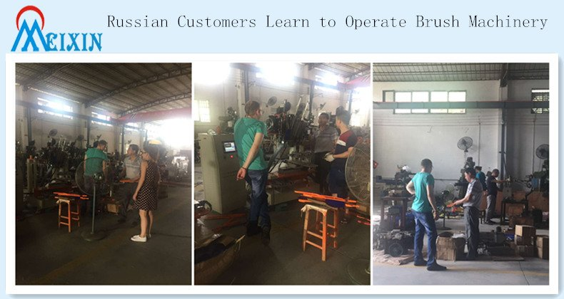 Russian Customers Learn to Operate Brush Machinery